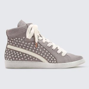 NIB Dolce Vita NATTY STUDDED SNEAKERS IN SMOKE